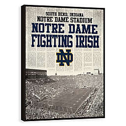 University of Notre Dame News Stadium Framed Printed Canvas Wall Art