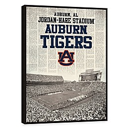 Auburn University News Stadium Framed Printed Canvas Wall Art