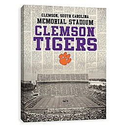 Clemson University News Stadium Printed Canvas Wall Art
