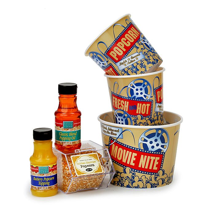 Alternate image 1 for Wabash Valley Farms™ 6-Piece Nostalgic Tub and Popcorn Treat Gift Set