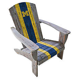 Collegiate Distressed Wood Adirondack Chair Collection