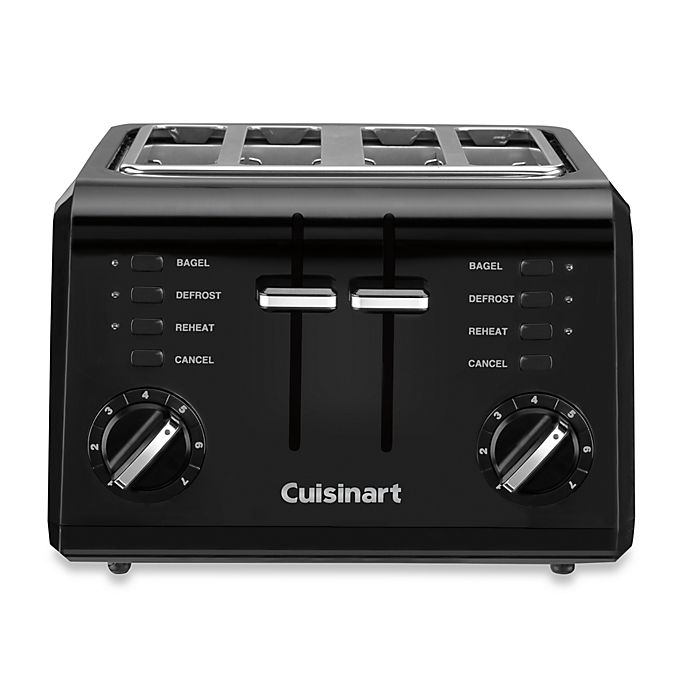 Alternate image 1 for Cuisinart® Black Compact Cool-Touch 4-Slice Toaster
