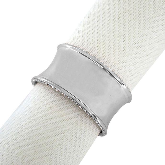 Alternate image 1 for Beaded Elegance Napkin Ring in Silver
