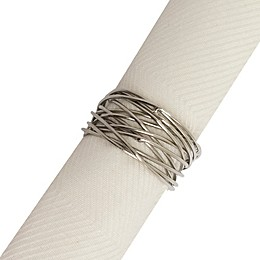 Twisted Wire Napkin Rings in Silver (Set of 4)