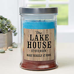 Home Away From Home Personalized Triple Pour Candle Jar