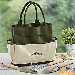 My Garden Personalized 4-Piece Garden Tote and Tool Set