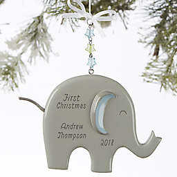 Eddie the Elephant® Personalized Baby Boy Christmas Ornament