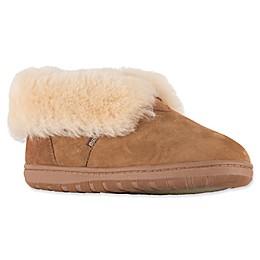Lamo® Women's Double-Face Sheepskin Bootie Slippers in Chestnut