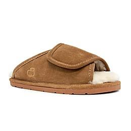 Lamo® Luxury Women's Open-Toe Wrap Slippers in Chestnut