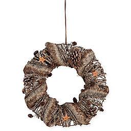 Gallerie II Large Fur Trimmed Wreath