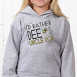 I'd Rather Bee With... Hanes® Youth Hooded Sweatshirt