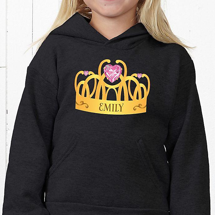 Alternate image 1 for Princess Hanes® Youth Hooded Sweatshirt