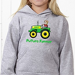 Tractor Time Hanes® Youth Hooded Sweatshirt