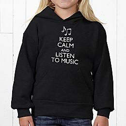 Keep Calm Hanes® Youth Hooded Sweatshirt