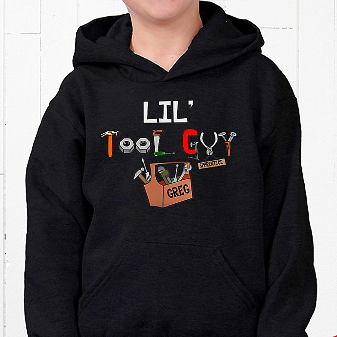 Alternate image 1 for Lil' Tool Guy Hanes® Youth Hooded Sweatshirt