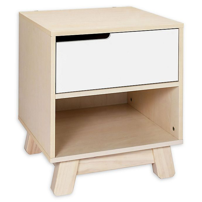 Alternate image 1 for Babyletto Hudson Nightstand in Washed Natural/White