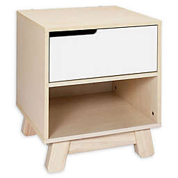 Babyletto Hudson Nighstand in Washed Natural/White