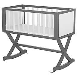 Dream On Me Luna Cradle in Grey/White