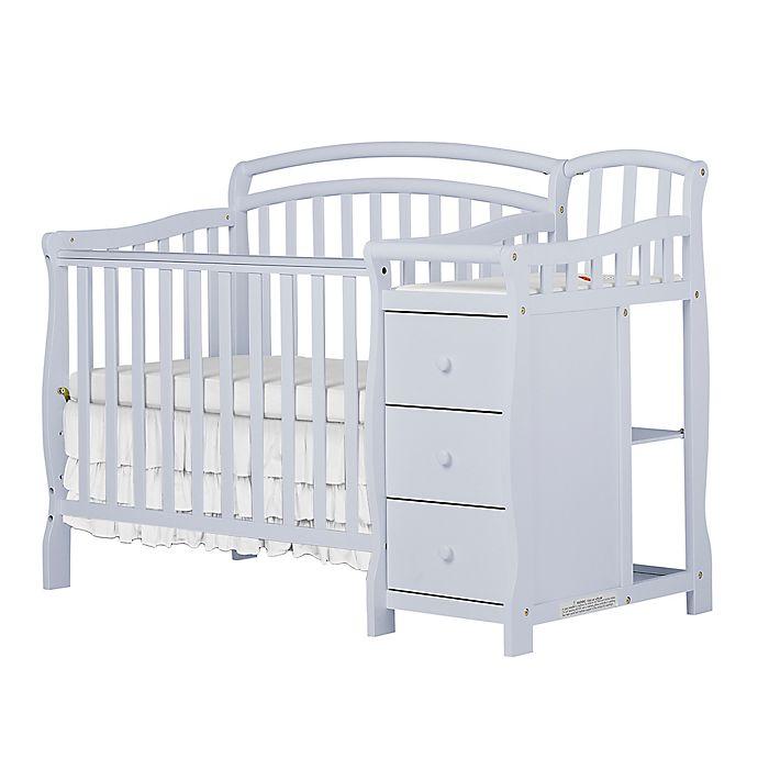 Alternate image 1 for Dream On Me Casco 4-in-1 Mini Crib & Changer in Grey Pebble