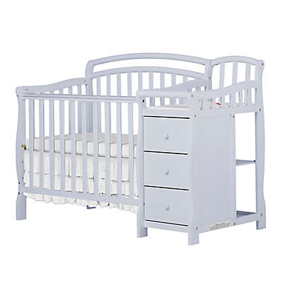 Dream On Me Casco 4-in-1 Mini Crib & Changer in Grey Pebble
