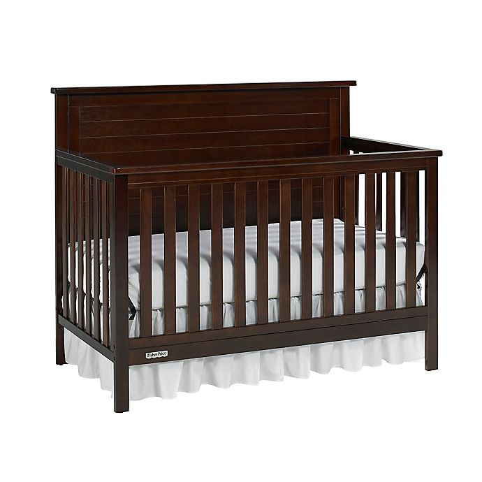 Alternate image 1 for Fisher-Price® Lucas 4-in-1 Convertible Crib in Light Espresso