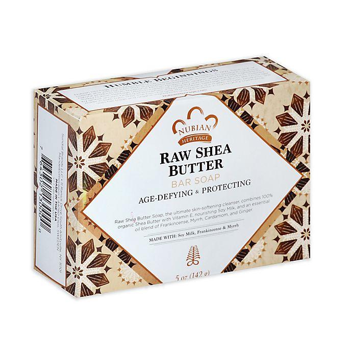 Alternate image 1 for Nubian Heritage 5 oz. Raw Shea Butter Bar Soap