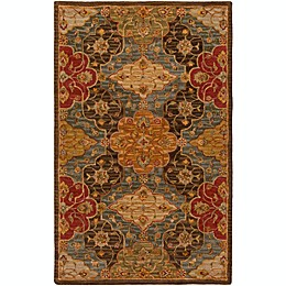 Surya Carrington Classic Handcrafted Rug in Green/Brown