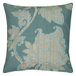 Rizzy Home Caning Floral Square Indoor/Outdoor Throw Pillow