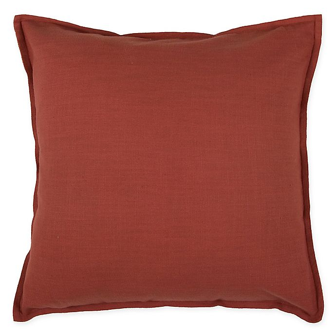 Alternate image 1 for Rizzy Home Flanged Square Indoor/Outdoor Throw Pillow