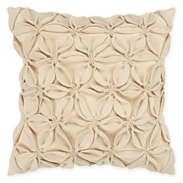 Rizzy Home Petals Solid Square Throw Pillow