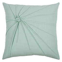 Rizzy Home Twist Tacked Knot Square Indoor/Outdoor Throw Pillow in Aqua