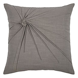 Rizzy Home Twist Tacked Knot Square Indoor/Outdoor Throw Pillow