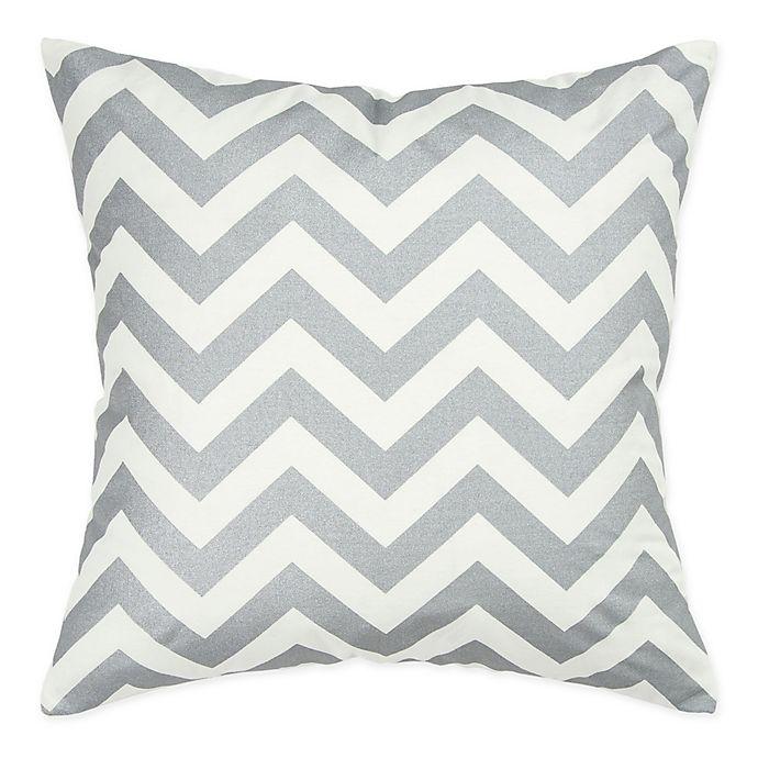 Alternate image 1 for Rizzy Home Chevron Square Throw Pillow