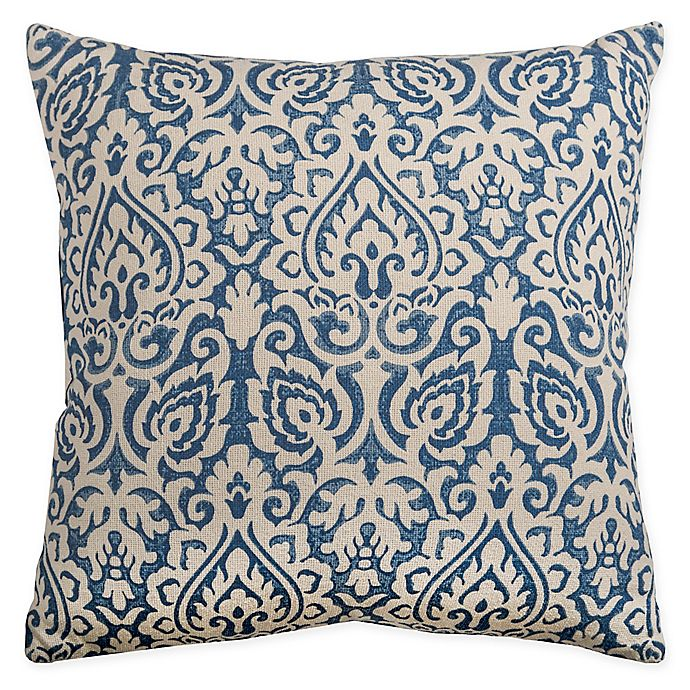 Alternate image 1 for Rizzy Home Floral Damask Square Indoor/Outdoor Throw Pillow