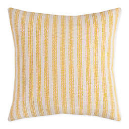 Rizzy Home Ticking Chevron Square Throw PIllow in Natural/Grey