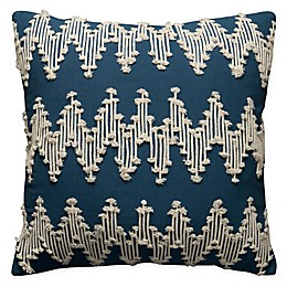 Rizzy Home Frayed Chevron Square Indoor/Outdoor Throw Pillow