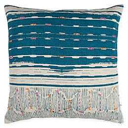 Rizzy Home Abstract Stripe Square Throw Pillow