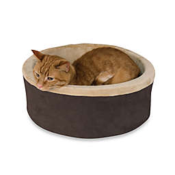 K&H 20-Inch Thermo Kitty Bed in Mocha