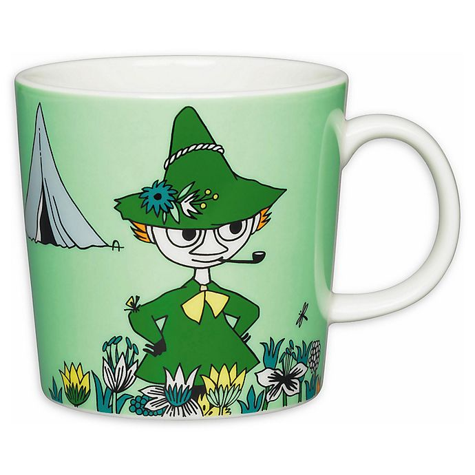 Alternate image 1 for Arabia Moomin Green Snufkin Mug