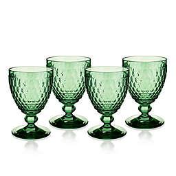 Villeroy & Boch Boston 14 oz. Wine Goblets in Green (Set of 4)