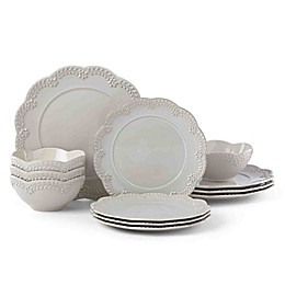 Lenox® Chelse Muse Floral Grey™ 12-Piece Dinnerware Set