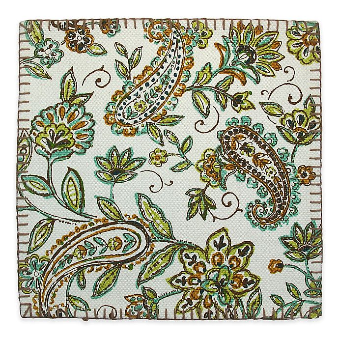 Alternate image 1 for Paisley Print Canvas Placemat in Green
