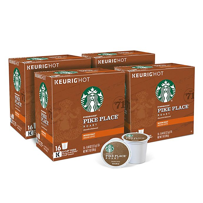 Alternate image 1 for Starbucks® Pike Place® Roast Coffee Keurig® K-Cup® Pods Value Pack 64-Count