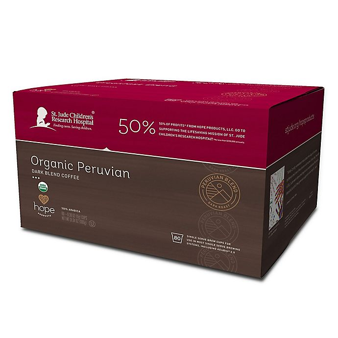 Alternate image 1 for Hope Coffee® 80-Count Donut Peruvian Pods for Single Serve Coffee Makers