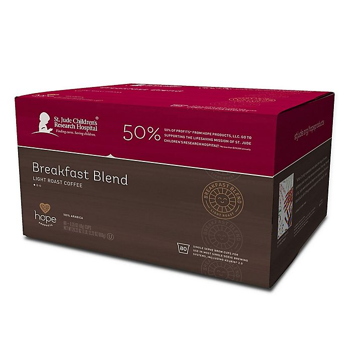 Alternate image 1 for Hope Coffee® 80-Count Breakfast Blend Pods for Single Serve Coffee Makers