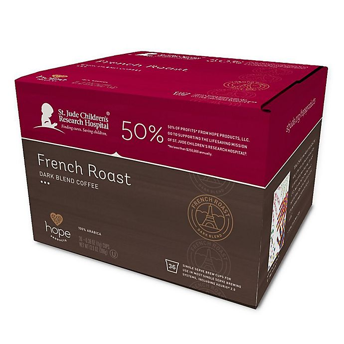 Alternate image 1 for Hope Coffee® 36-Count Donut French Roast Pods for Single Serve Coffee Makers