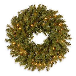 National Tree Company Norwood Fir Pre-Lit Wreath with Clear Lights