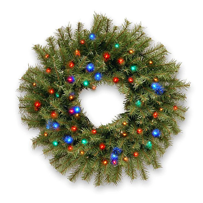 National Tree Norwood Fir 2-Foot Wreath Pre-Lit With 50