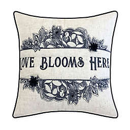 NYBG Love Blooms Throw Pillow in Linen