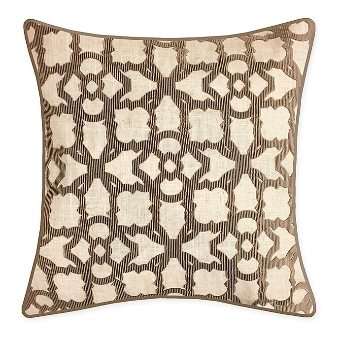 Alternate image 1 for New York Botanical Garden® Square Throw Pillow in Taupe